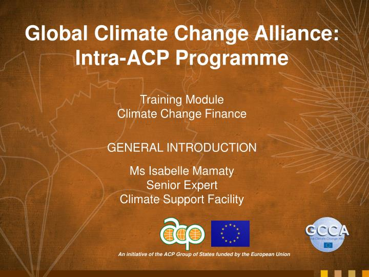 climate change financing Conditions required to access climate change financing, the different financing available in africa, some practical examples, and the remaining challenges towards a greening of agriculture this paper targets national agriculture sector, forestry and food security policy makers.