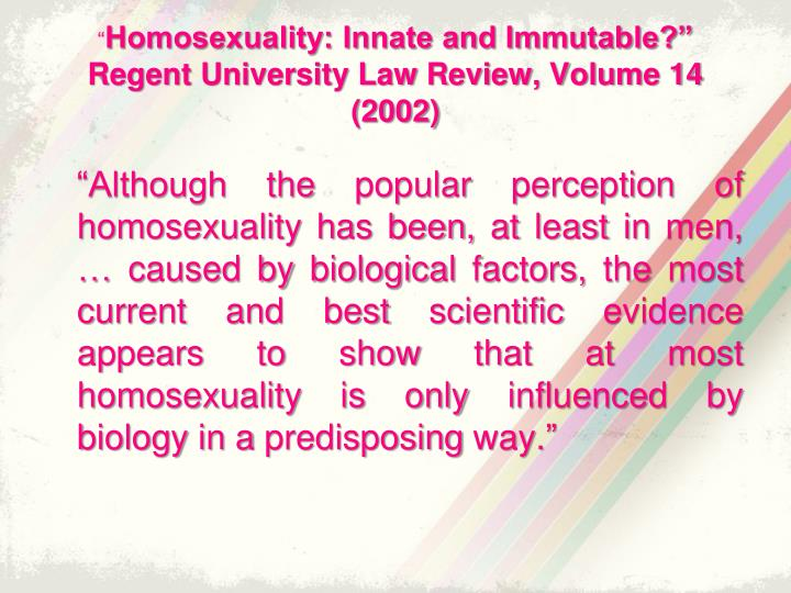 acceptance of the homosexual lifestyle an evaluation Lifestyle a homosexual may insist that he bears no responsibility for his identity, his psychic people enter this lifestyle to varying degrees some live in the heterosexual world for the most part, seeking in spite of the acceptance that is available, however, the homosexual lifestyle often proves to be a.