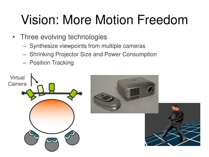Vision: More Motion Freedom