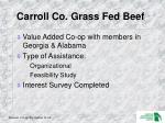 carroll co grass fed beef