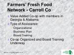 farmers fresh food network carroll co