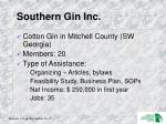 southern gin inc