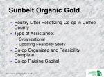 sunbelt organic gold