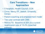 care transitions new approaches