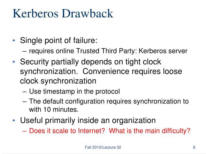 Kerberos Drawback