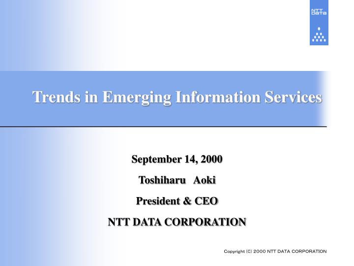 trends in emerging information services n.