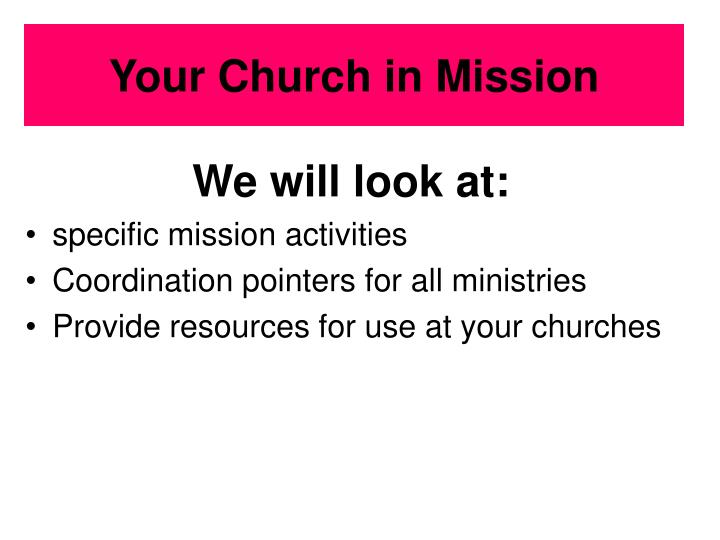 your church in mission n.