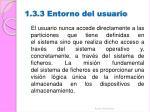 1 3 3 entorno del usuario