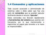 1 4 comandos y aplicaciones