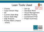 lean tools used