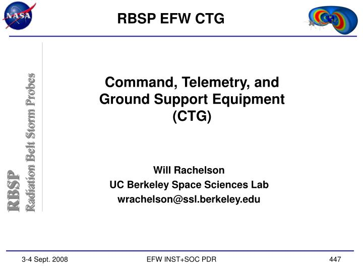 command telemetry and ground support equipment ctg