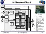 gse backplane i f board