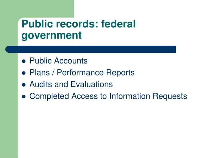 public records federal government n.