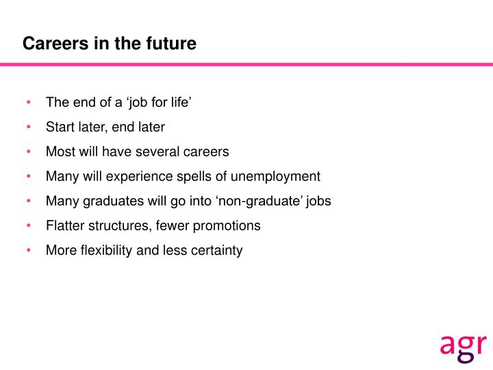 Careers in the future