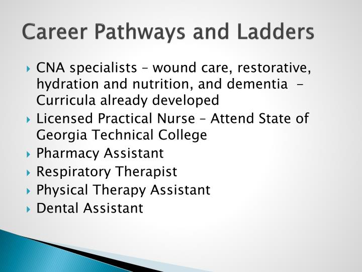 Career Pathways and Ladders