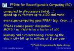 fpgas for reconfigurable computing rc