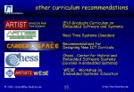 other curriculum recommendations