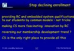 stop declining enrollment