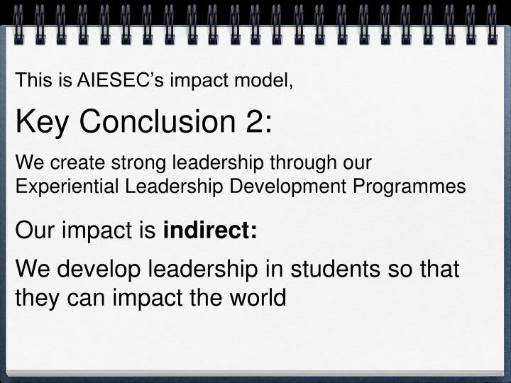 This is AIESEC's impact model,