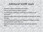 additional score goals