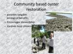 community based oyster restoration