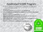 established score program