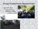 group involvement opportunities
