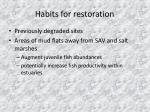 habits for restoration