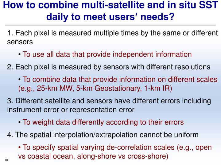 How to combine multi-satellite and in situ SST daily to meet users' needs?