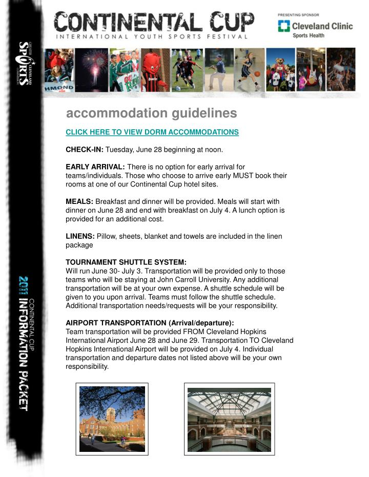 accommodation guidelines