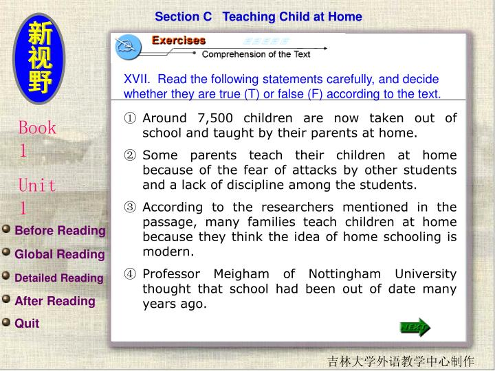 Section C   Teaching Child at Home