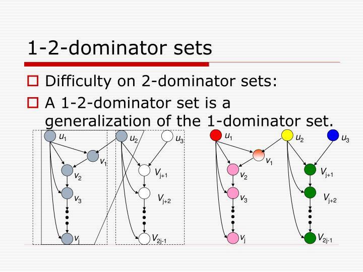 1-2-dominator sets