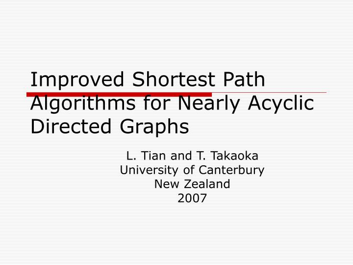Improved shortest path algorithms for nearly acyclic directed graphs