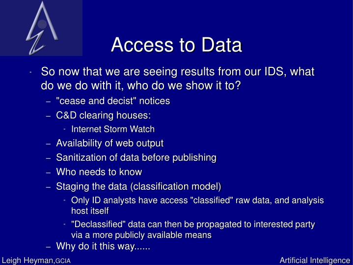 Access to Data