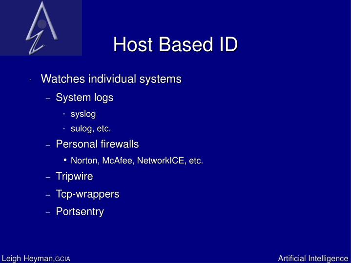 Host Based ID