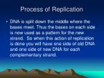 process of replication