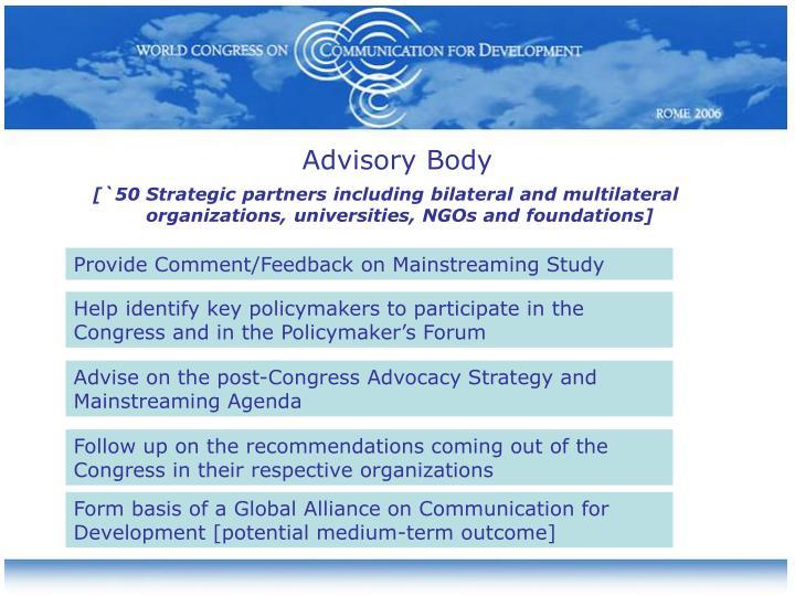 Advisory Body