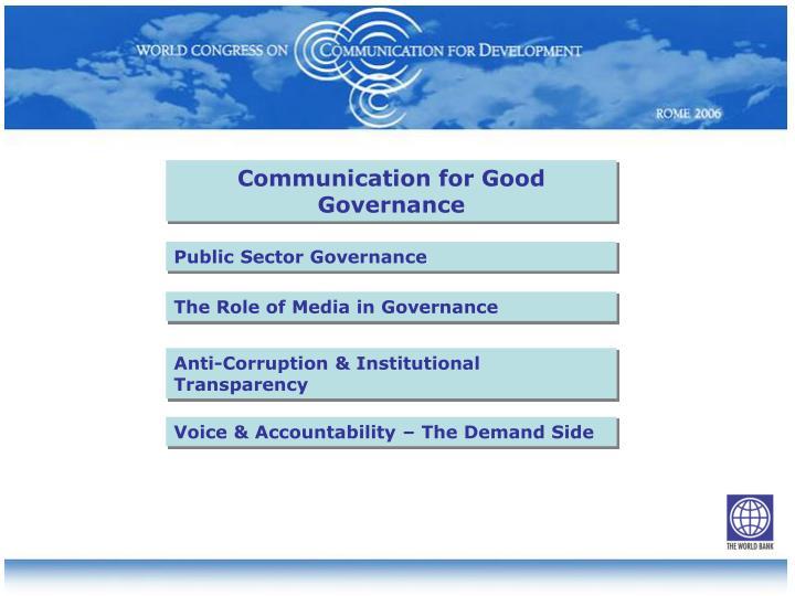 Communication for Good Governance