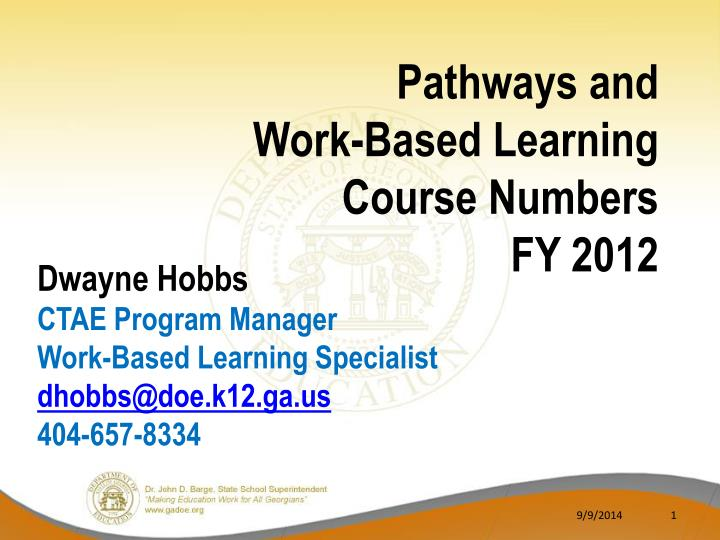 Pathways and