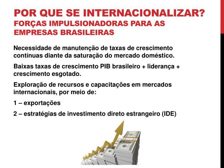 Por que se internacionalizar?