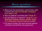blazar questions