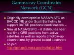 gamma ray coordinates network gcn1