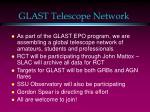 glast telescope network