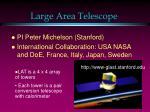large area telescope