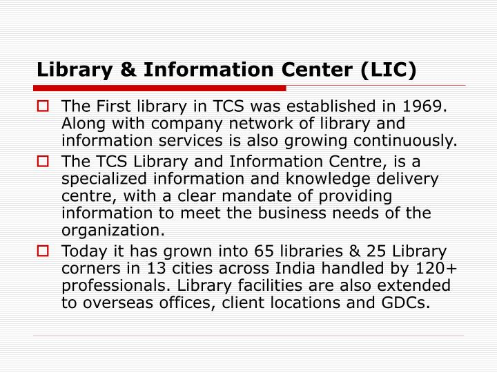 Library & Information Center (LIC)