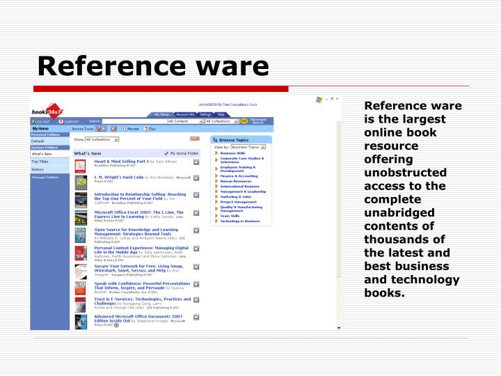 Reference ware