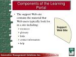 components of the learning portal