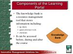 components of the learning portal1