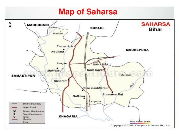 Map of saharsa