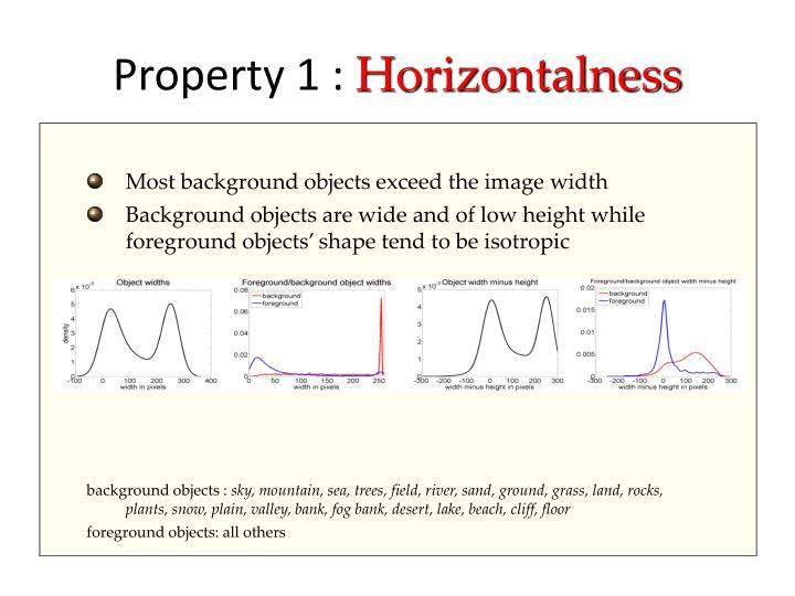 Property 1 horizontalness